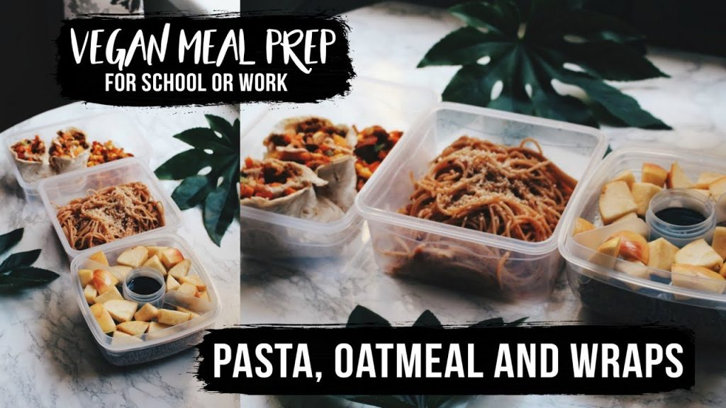 VEGAN MEAL PREP FOR SCHOOL OR WORK IN 15 MINUTES | Isabel Agnes