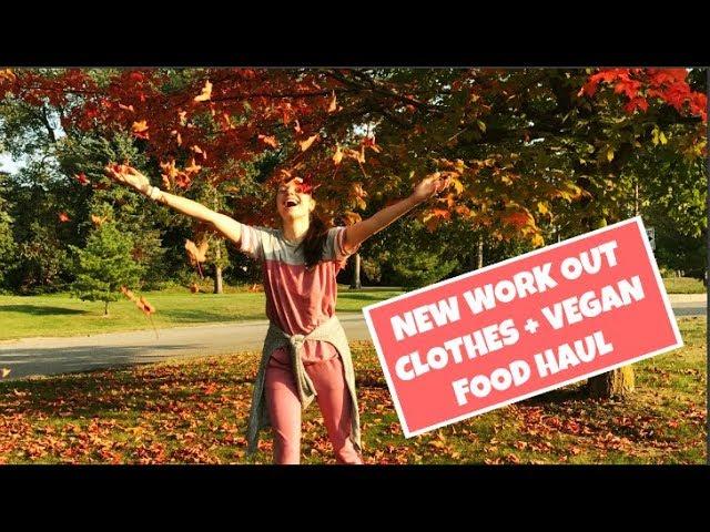 WORKOUT CLOTHING + VEGAN FOOD HAUL
