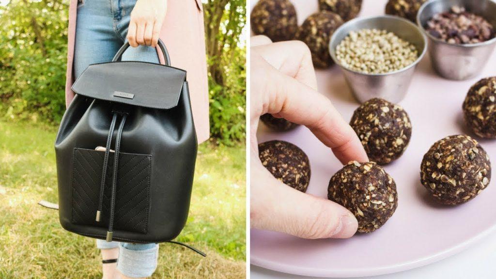WHAT'S IN MY BAG? 👜 ✨ || + VEGAN NUTELLA BLISS BALL RECIPE