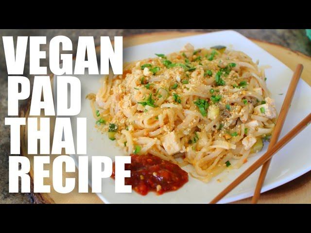 Vegan Pad Thai Recipe – vegan lunch – vegan meals – vegetarian food – easy recipes