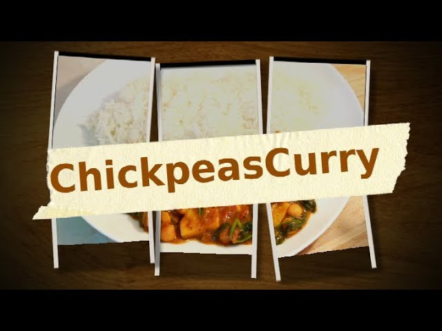 CHICK PEAS CURRY & SPINACH VEGETARIAN DISH /Easy Vegetarian Dinner Best Meal !!