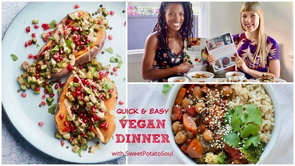 Quick & Easy Vegan Dinner Ideas with Sweet Potato Soul | Stuffed Sweet Potato + Teriyaki Stir-Fry