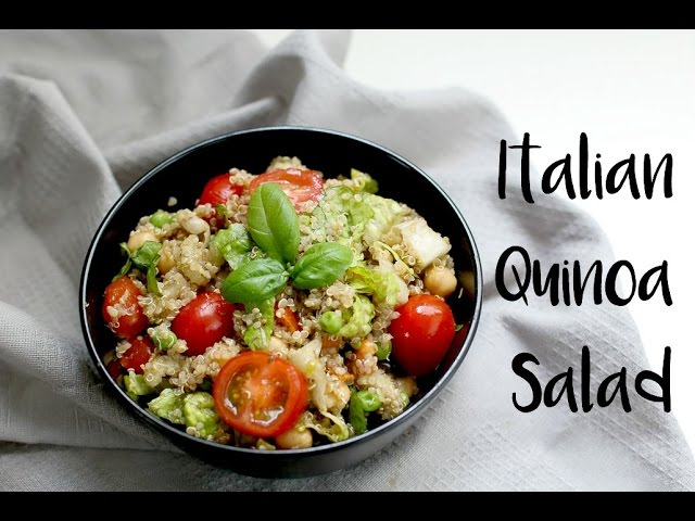 Italian Quinoa Salad (vegan & gluten free) | easy lunch recipe