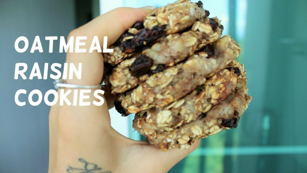 3 Ingredient OATMEAL RAISIN COOKIES