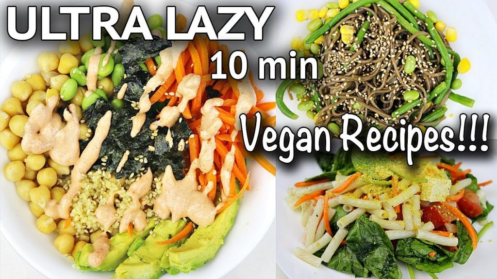 ULTRA LAZY VEGAN RECIPES #2 (ten min sushi bowl + more)