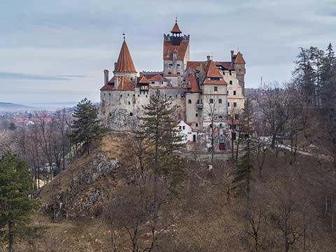 Medieval Bran castle. Brasov Transylvania, Romania