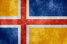 Scandinavian accent button