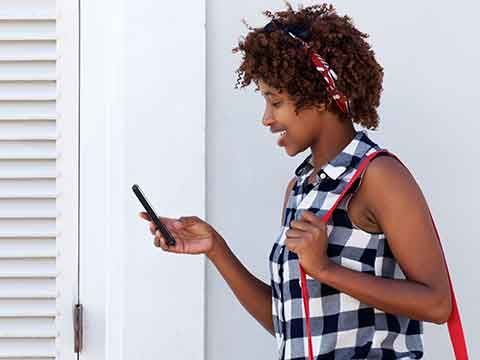 African consumer on phone, African voice over agency