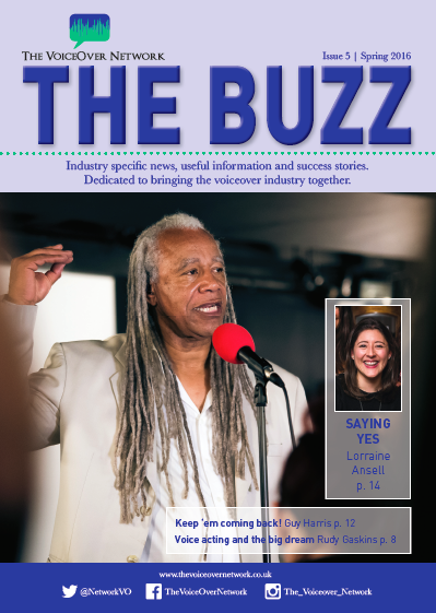 The Buzz Magazine cover with Dave Fennoy