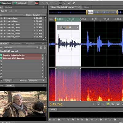 Adobe Audition has a built in spectrum analyser and noise reduction software, which can be useful for tidying up VO projects
