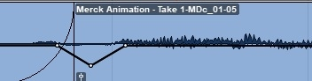 Screenshot showing Plosives being edited in Pro-Tools