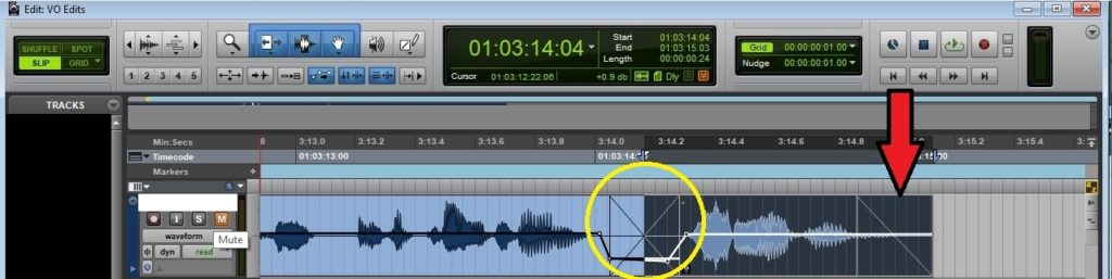 Crossfades in pro-tools voice over edit