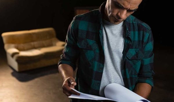Actor reading additional script