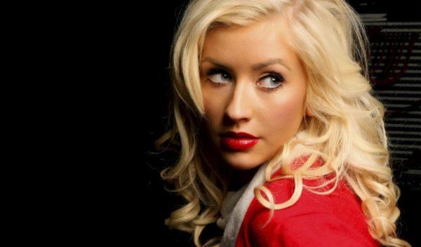 Christina Aguilera in red
