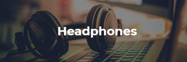 Professional Studio Headphones resting on keyboard