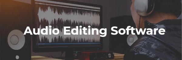 Computer with sound waveform being edited