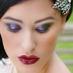 Bridal Beauty: Bold red and deep purple