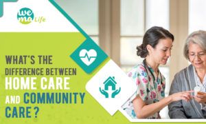 difference between homecare and community care