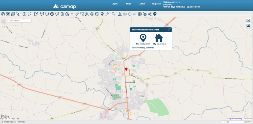 what3words & azimap Place