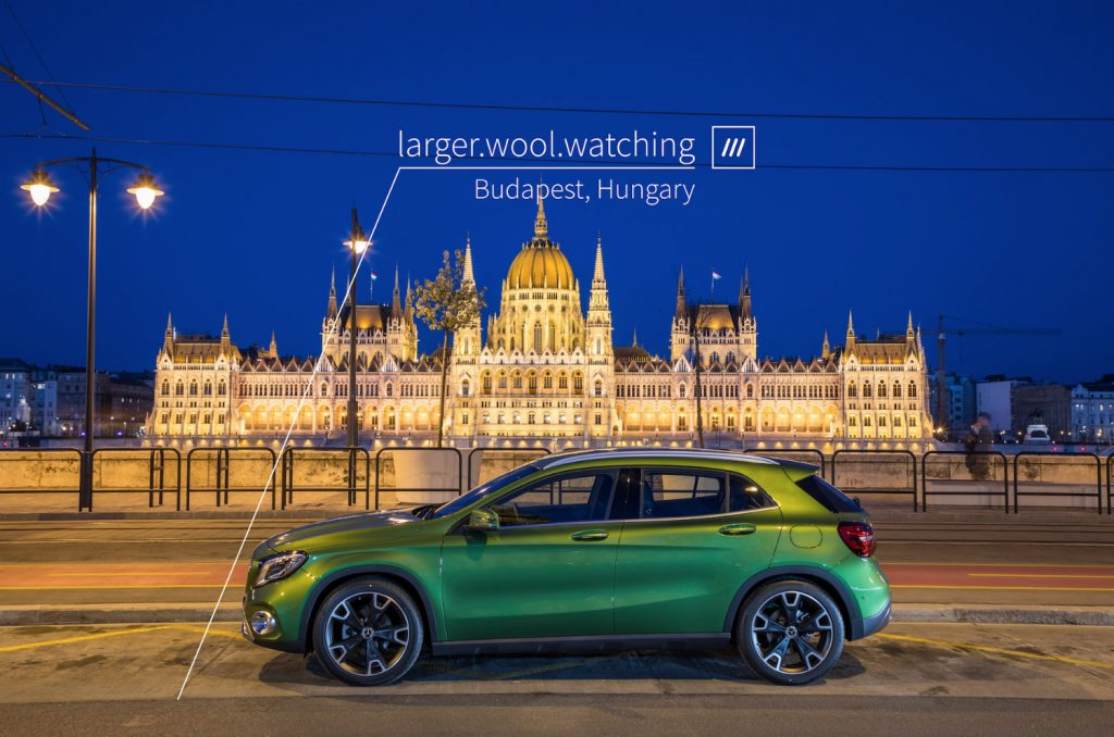 Mercedes-Benz introduces the world's first in-car 3 word address