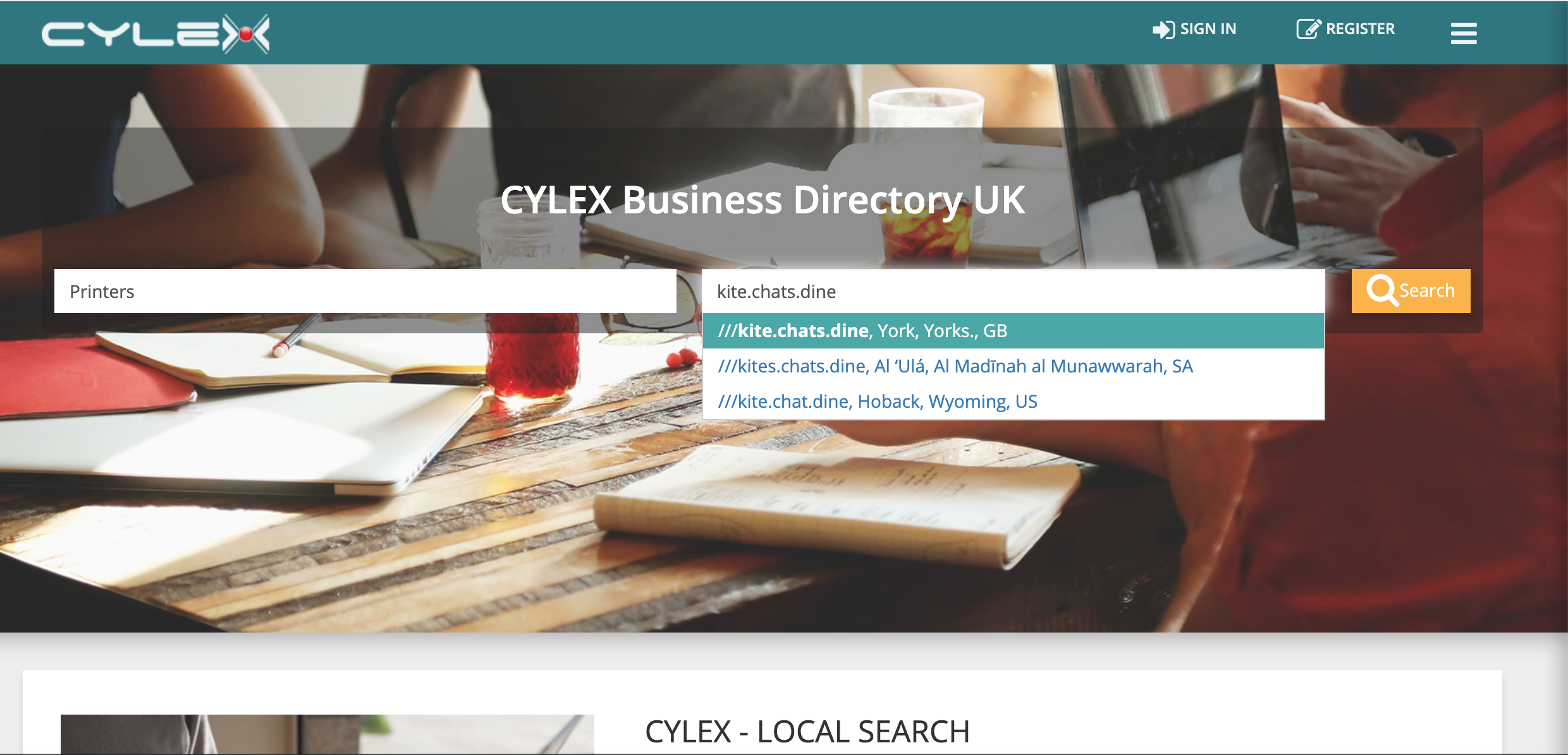 Digital business directory Cylex integrates what3words   what3words