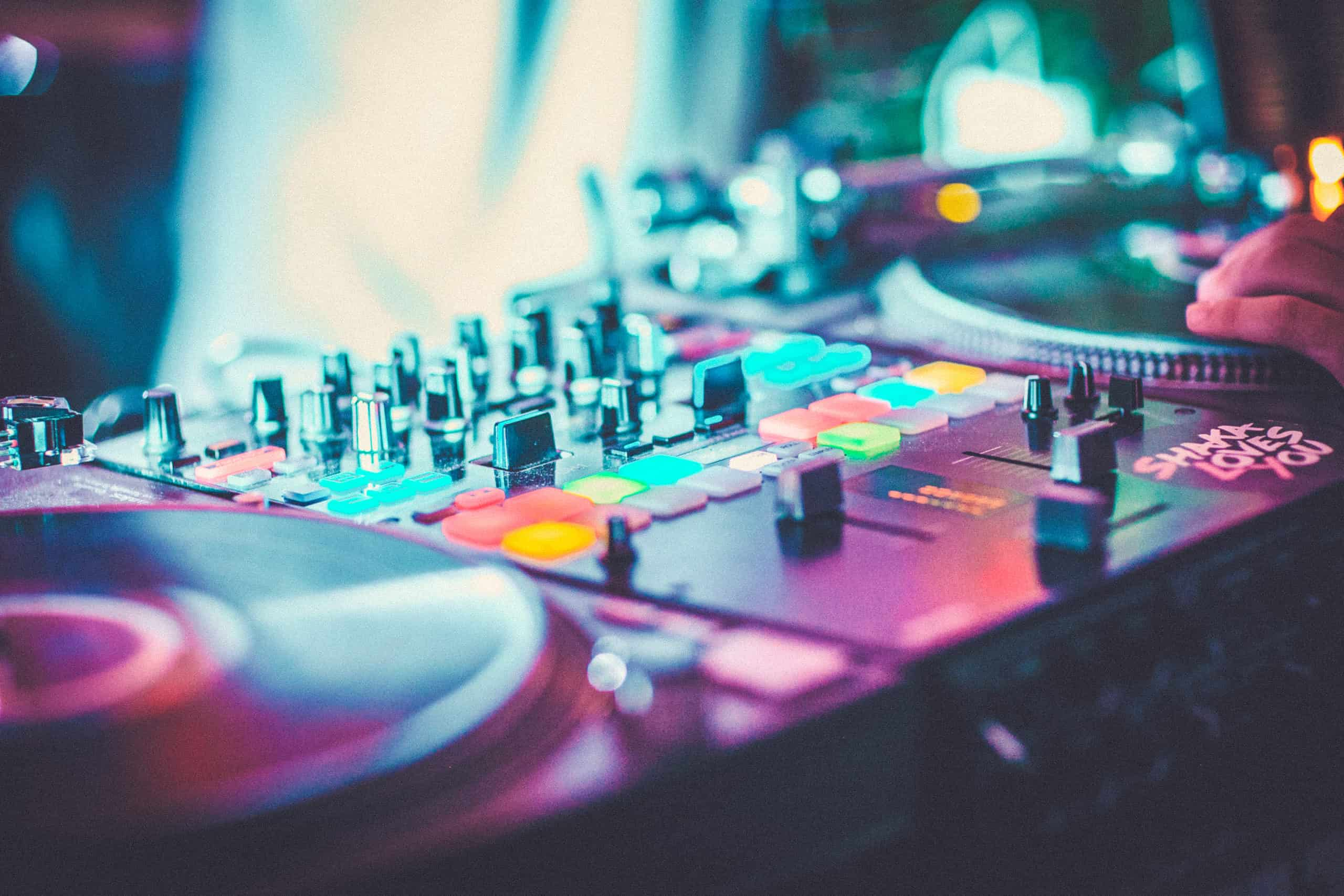 Close up of the decks at Camp Wildfire. A summer weekend break in a forest near London and Kent. An outdoor woodland retreat featuring adventure activities, live music, DJs, parties and camping. Half summer adventure activity camp, half music festival, for adults only.