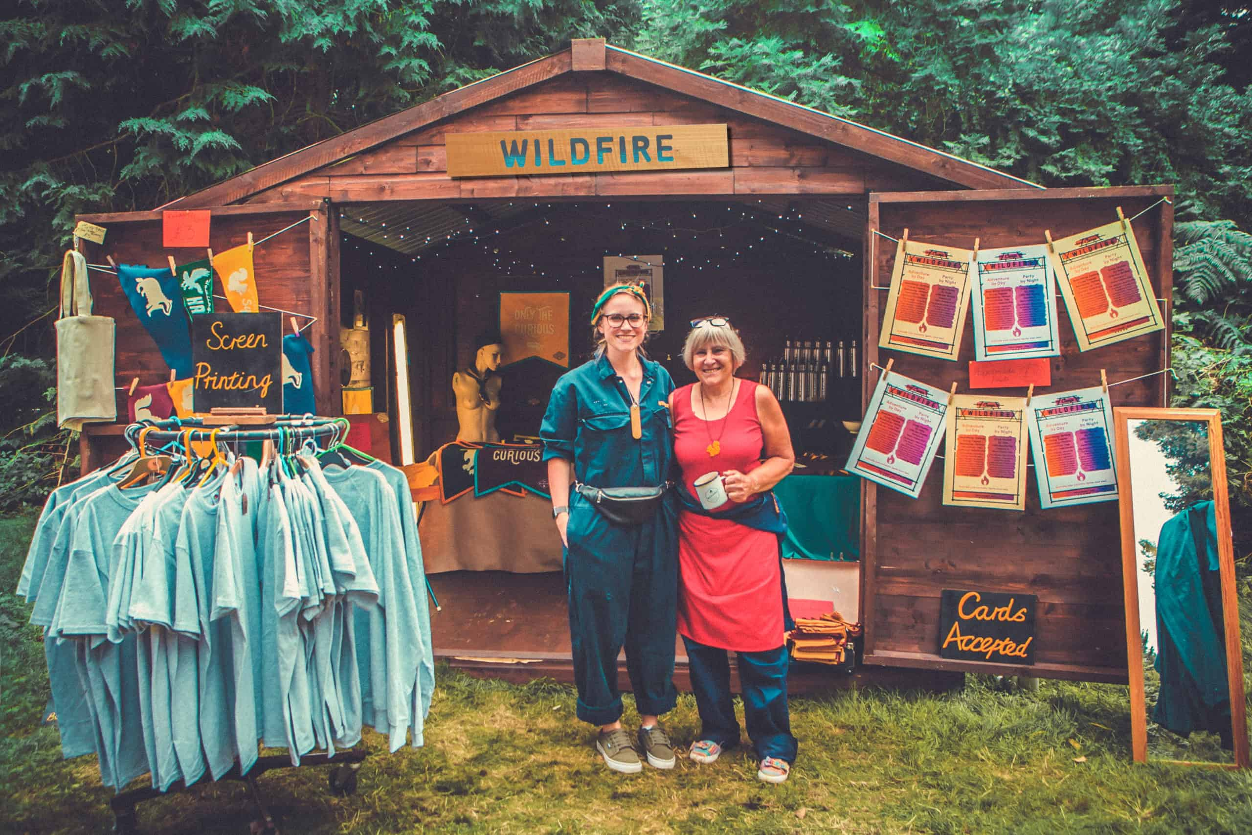 The Camp Wildfire merchandise shop. A summer weekend break in a forest near London and Kent. An outdoor woodland retreat featuring adventure activities, live music, DJs, parties and camping. Half summer adventure activity camp, half music festival, for adults only.