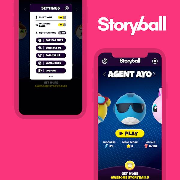Storyball, smart ball, iOS app, Wolfpack Digital, app development, smart toy, internet of things, startup from Tel Aviv