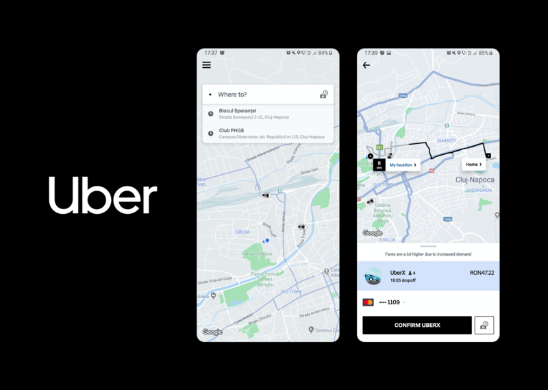 Uber and Uber EATS uses react native and native iOS and Android, WOlfpack Digital overview