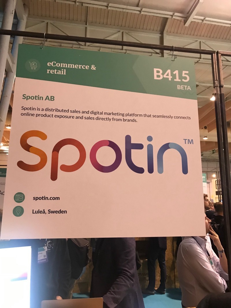 Spotin tech startup is an ecommerce and retail platform from Sweden founder Kristoffer Karlsson spotted by Wolfpack Digital