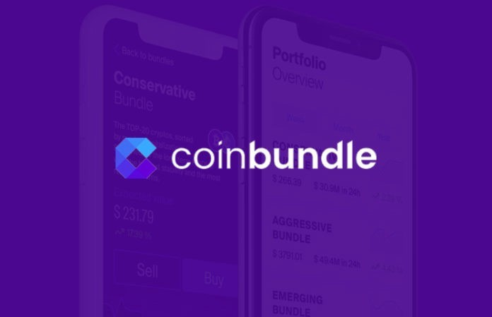 Coin Bundle tech startup and crypto investment platform backed by Y Combinator, spotted by Wolfpack Digital at Web Summit