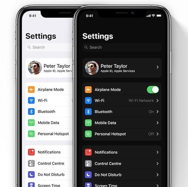 iOS 13 Dark mode is a new feature that brings color changes to the UI layout and can be made by Wolfpack Digital team
