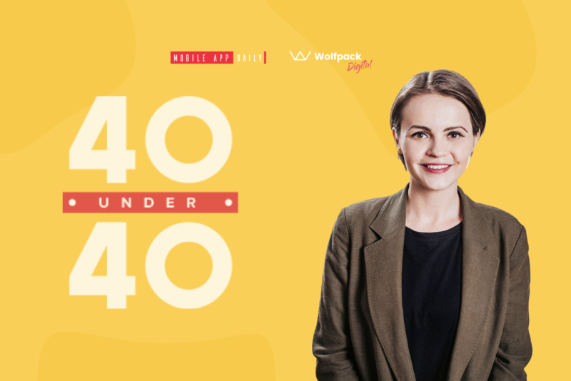 CEO gina lupu featured in 40 under 40 according to MobileAppDaily