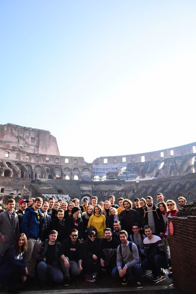 Top app development company, Wolfpack Digital visiting Colosseum, the company culture origins