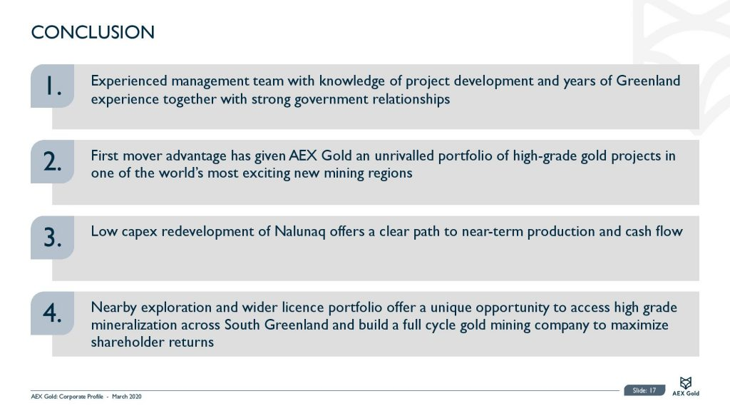 Aex Gold Corporate Presentation Corporate Presentation March 2020 Page 017