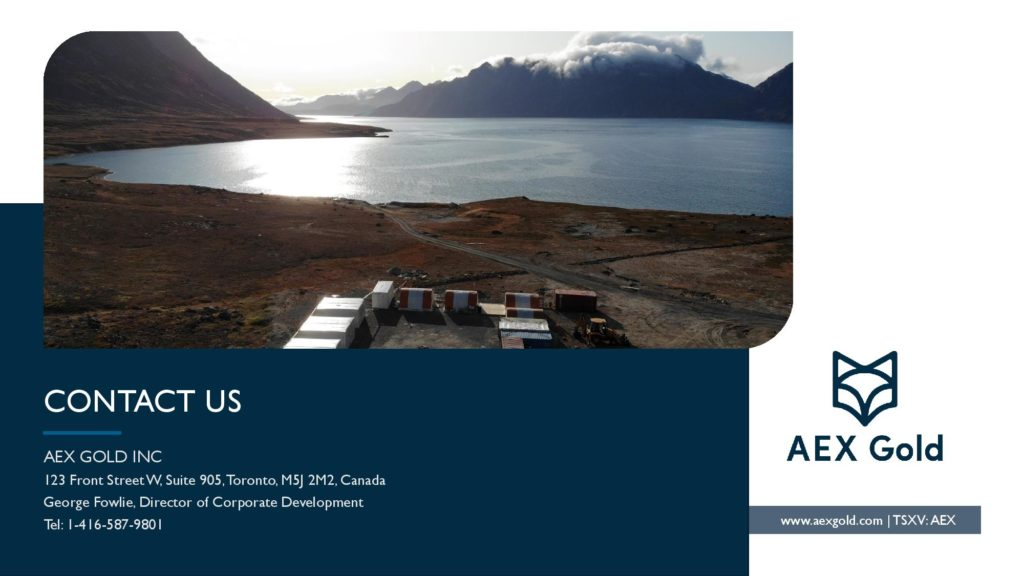 Aex Gold Corporate Presentation Corporate Presentation March 2020 Page 026