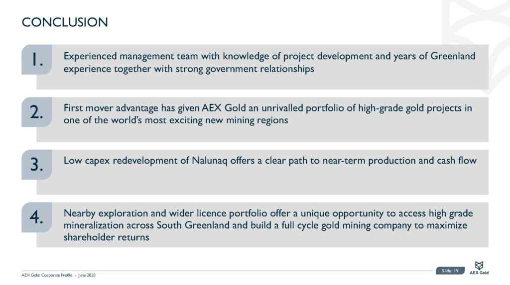 Aex Gold Corporate Presentation June 2020 Page 19