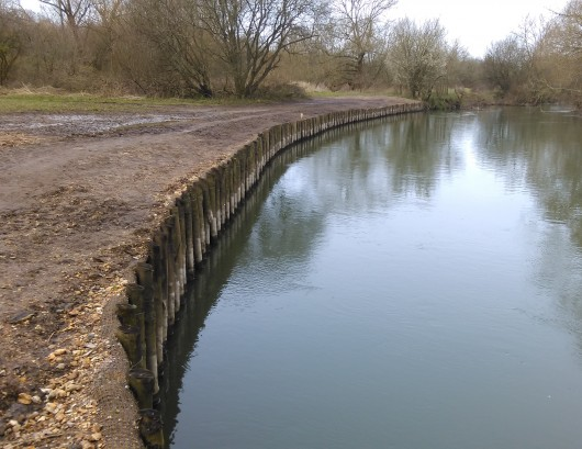River bank erosion protection on the River Stour