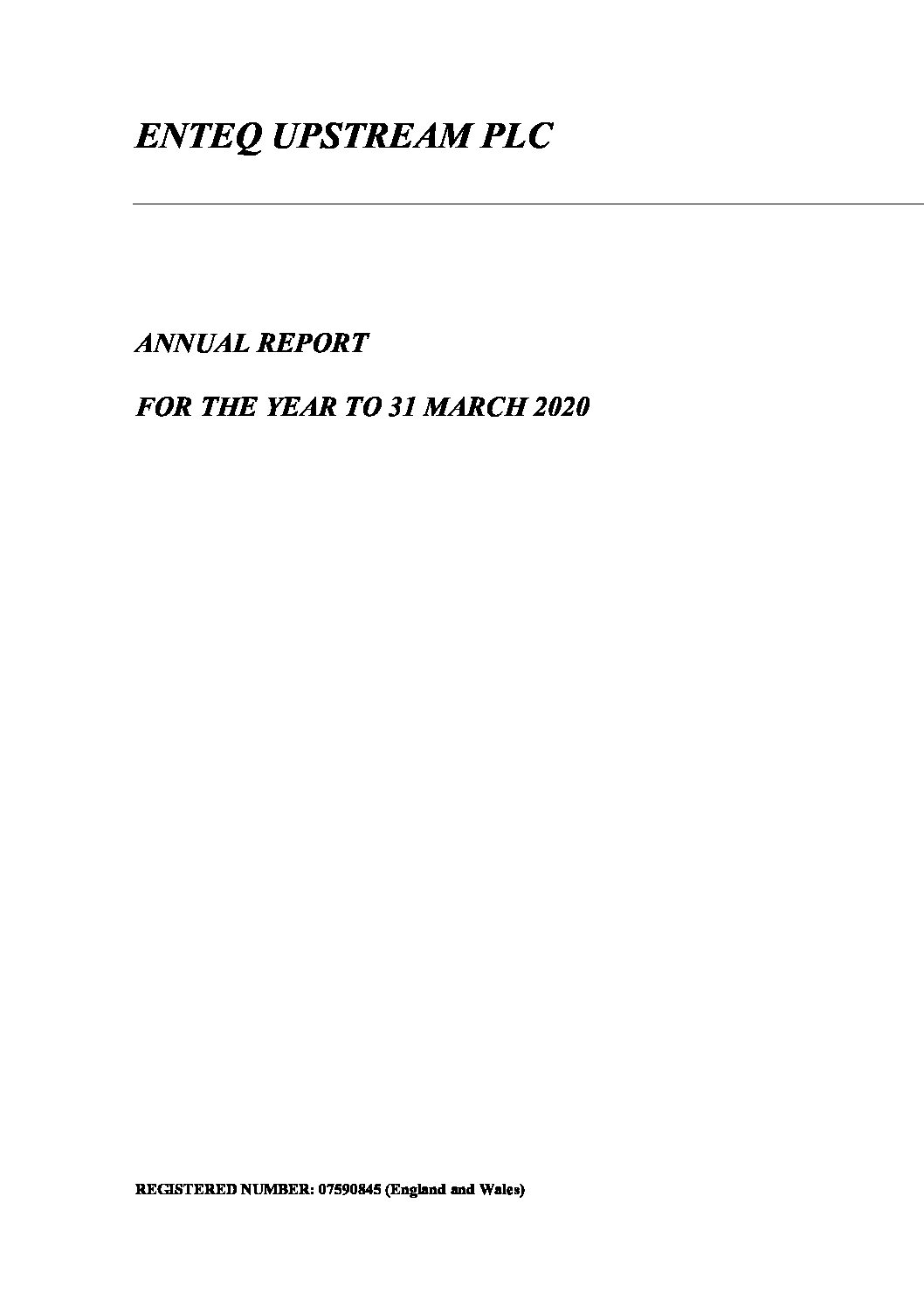 Annual Report – 31 March 2020