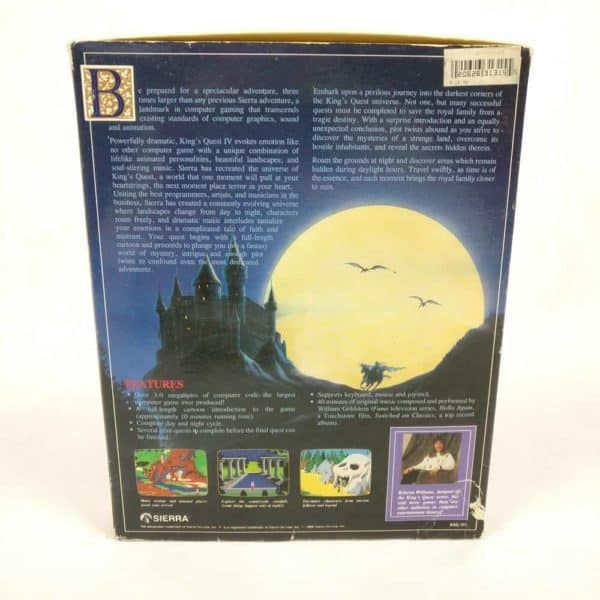 King's Quest IV: The Perils of Rosella (PC Big Box, 1988, Sierra On-Line)