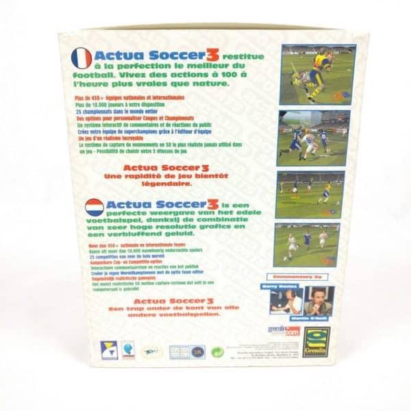 Actua Soccer 3 (PC Big Box, 1999, Fransk/Hollandsk udgave)