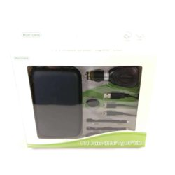 """7i1 """"X"""" Pakke til Nintendo DSi og DS Lite (Sort) - Taske, oplader, stylus penne"""