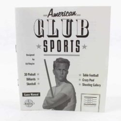 American Club Sports (Commodore 64 manual)