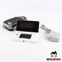 Nintendo 3DS (Pearl White) med taske og oplader