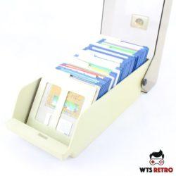 Lille disketteboks med Amiga Floppy Disk.