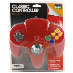 TTX Classic Nintendo 64 Controller - Rød