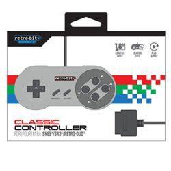 Retro-Bit Classic SNES Controller Controller fra Retro-Bit, varen er ny og ubrugt. Virker til: Super Nintendo Super Famicom SR3 Retro Duo