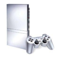 Playstation 2 Slimline Silver (SCPH-90004) med Dual Shock 2 Controller og alle kabler