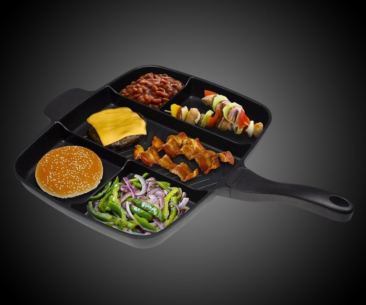 13. Master Pan Non-Stick Divided Grill