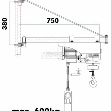 Braço rotativo p/ guinchos HOLZMANN SA600750